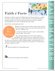 Faith                           Matters Faith does not equal facts