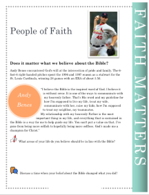 Faith                           Matters Andy Benes